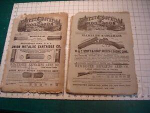 2 Original issues of FOREST & STREAM, ROD & GUN -great gun ads, WOW