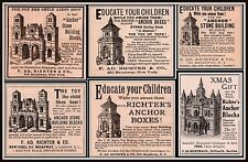 AD LOT OF 6 LATE 1890 'S - 05 ADS ANCHOR STONE BUILDING BLOCKS RICHTER