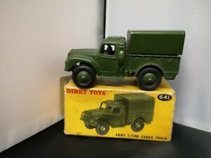 P802-DINKY No641 ARMY 1-TON CARGO TRUCK AND ORIGINAL BOX
