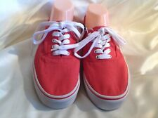 New Old Navi slip on red canvas lace up shoes with white rubber soles sz 9