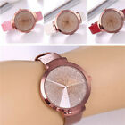 Fashion Women's Casual Stainless Steel Leather Watch Analog Quartz Wrist Watches