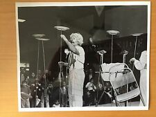 RARE VINTAGE CIRCUS ACT Clown Spinning Plates on Poles Performance Photo