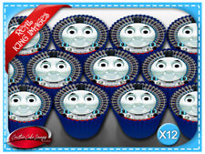 12 Thomas The Tank Engine Edible Icing Image Cupcake Party Toppers
