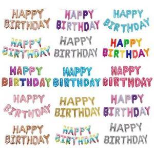 Happy Birthday Balloon Letter Alphabe Rose Gold Foil Balloon Wedding Party Birth