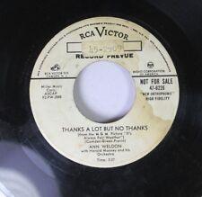 Hear! Popcorn Jazz Rare 45 Ann Weldon - Thanks A Lot But No Thanks / Pamper Me O