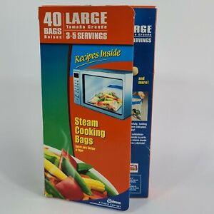 Ziploc Zip'n Steam Cooking Bags Sz Large QTY 40 New/Unused Discontinued