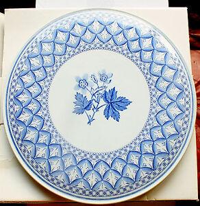 The Spode Blue Room Collection Platter  Geranium design c1820V for Cakes etc
