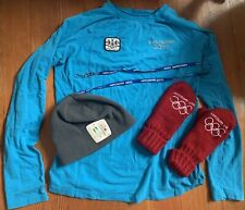 2010 Vancouver Winter Olympics Clothes: Red Mittens, Blue Top W L, Hat, Lanyard