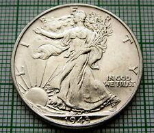 UNITED STATES 1943 1/2 HALF DOLLAR WALKING LIBERTY, PHILADELPHIA SILVER