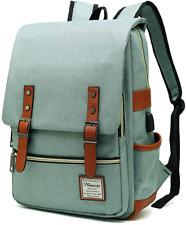 MANCIO Slim Vintage Laptop Backpack For women,Men For Travel,College,School Day
