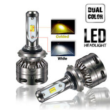 9006 LED Headlight Conversion Kit Dual Color White & Golden Yellow Low Beam Fog