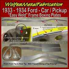 1933 - 1934 Ford Easy Weld™ DIMPLED Frame Boxing Plates 33 - 34 Belled Chassis