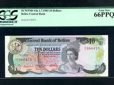 Belize(British Honduras):P-44a,10$,1983 * QEII * PCGS Gem UNC 66 PPQ *