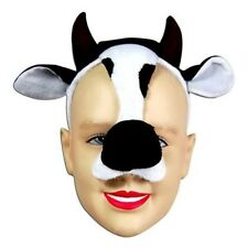 New Cow Face Mask Animal Fancy Dress Costume With Sound Effect FX P1305