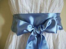 """NUOVO 2.5 """"x100"""" Fiordaliso blu in raso Sash Belt Self TIE Bow per Prom abito da party"""