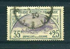 "FRANCE N°152 ""ORPHELINS 35c+25"" OBLITERE TRES BEAU"
