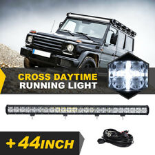 44INCH 480W OSRAM LED LIGHT BAR SPOT FLOOD COMBO CROSS DRL FOR JEEP FORD TOYOTA