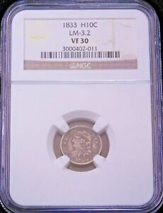 1833 LM-3.2 Capped Bust Silver Half Dime NGC VF30  #GE314