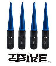20 TRUE SPIKE 121MM 12X1.5 FORGED STEEL TUNER LUG NUTS W/ BLUE EXTENDED SPIKES B