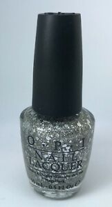 OPI Nail Polish * CROWN ME ALREADY ! NL U02 Silver Multi Glitter Lacquer
