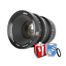 Meike 65mm T2.2 Cinema Lens for MFT M4/3 Olympus / Panasonic Lumix/ BMPCC Camera