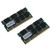 2 x 1GB Memoria 1G RAM Memoria PC2100 DDR CL2.5 DIMM 266MHz 200-pin per not N0Y4
