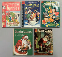 5 Book Gold/Silver Age Lot🔥Christmas Funnies 131, 9, 4, 128, 1274🔥VG-(3.5) Ave