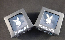 Playboy Adjustable Bunny Rings - Gold or Silver Plated Swarovski Crystals Boxed