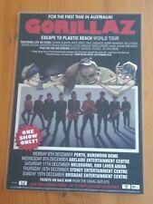 Gorillaz - Damon Albarn - Blur - Australia Escape Tour - Laminated Promo Poster