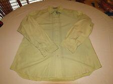 Elie Tahari men's button up long sleeve shirt green GUC large dress casual @