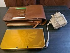 New Nintendo 3DS XL Hyrule Edition Console + Zelda Carry Case + Charger GC.