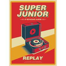 SUPER JUNIOR - PLAY - 8TH ALBUM REPACKAGE (CD+BOOKLET+PHOTOCARD) KPOPSTOREinUSA