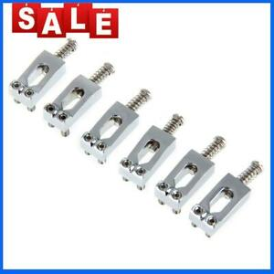 6pcs Tremolo Fixed Bridge Saddles with Wrench for Strat Electric Guitar