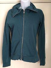 H&M Talla 36 (10) Azul Cremallera Cuello grande de gasolina peso ligero chaqueta señoras
