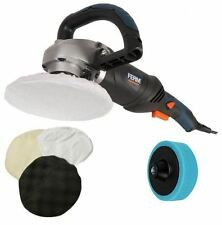 Ferm 1400W Electric Polisher Sander Buffer Car Polishing 6 Speed & Medium Mop