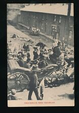 Wales Monmouthshire NEW TREDEGAR Street Procession Houses pre1919 PPC