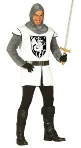 Adult Mens Medieval Knight Fancy Dress St George Costume England Crusader Outfit