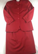 Vintage Christian Dior Womens 2 Piece Wool Skirt Suit Blazer & Skirt Size 10