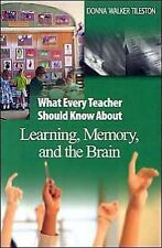 What Every Teacher Should Know About Learning, Memory, and the Brain (-ExLibrary