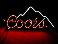 "Coors Mountain Neon Sign 13""x28"" Beer Bar Light Authentic Coors Sign!"