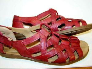 "Brand New Womens 8M/ EUR 39 Earth Origins ""Belle Bridget"" Sandals Regal RED Comf"