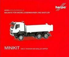 HERPA Modell 1:87/H0 MINIKIT Iveco Trakker Meiller Kipper Bausatz weiß #013673