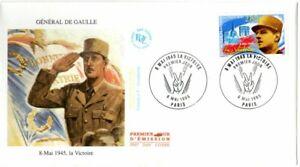 2944  FDC   ENVELOPPE 1er JOUR       8 MAI 1945  LA  VICTOIRE  G. DE GAULLE
