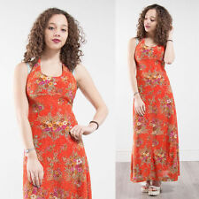 Synthetic Floral Maxi Halterneck Dresses for Women