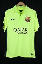 NWT Nike FCB Barcelona Stadium Jersey Neon Green Qatar Size Large