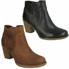 Clarks Mid Heel (1.5-3 in.) 100% Leather Boots for Women