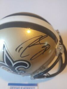 Drew Brees Signed Autograph Auto New Orleans Saints Mini Helmet PSA Coa