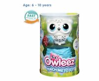 Owleez Flying Baby Owl Interactive Toy - White Brand New Free Postage