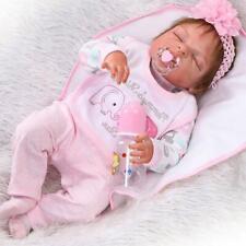 "22"" Full Body Silicone Vinyl Reborn Doll Lifelike Anatomically Correct Baby Girl"