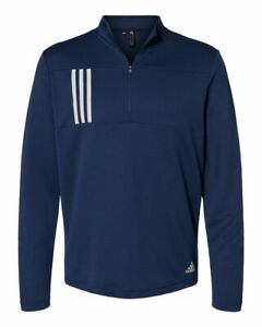 Adidas 3-Stripes Double Knit Quarter-Zip Pullover A482 S-4XL